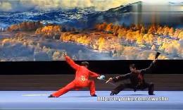 2014年全国武术套路锦标赛太极拳赛 太极拳对练  剑对扇 第一名