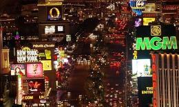 美国城市夜景航拍02  2