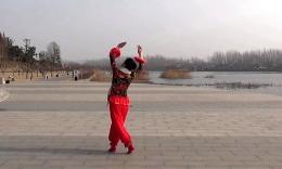 沭河之光广场舞原创《博尔塔拉我的爱》正背面演示分解...