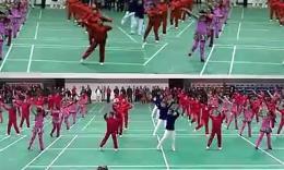 月夜--江苏省滨海县2014年体育节闭幕式神韵队与联队共舞实况...