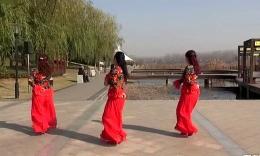 沭河之光广场舞原创《女儿国酒歌》正背面演示分解......