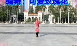 可爱玫瑰花广场舞(吉祥谣)附背面演示 冬季炫舞活动曲目三...