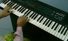 电子琴指法练习 电子琴入门教程图片