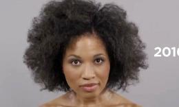 【100 Years of Beauty】1分钟看完100年流行妆容发型(黑人)